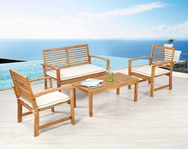 Picture of WATFORD 4PC OUTDOOR SOFA SET *SOLID ACACIA