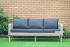 Picture of OASIS SOLID ACACIA 4PC WICKER COFFEE TABLE & SOFAS *ALUMINIUM FRAME