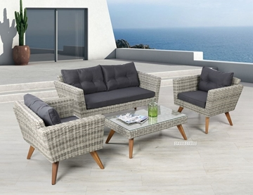 Picture of VITA 4PC WICKER SOFA SET *ALUMINIUM FRAME