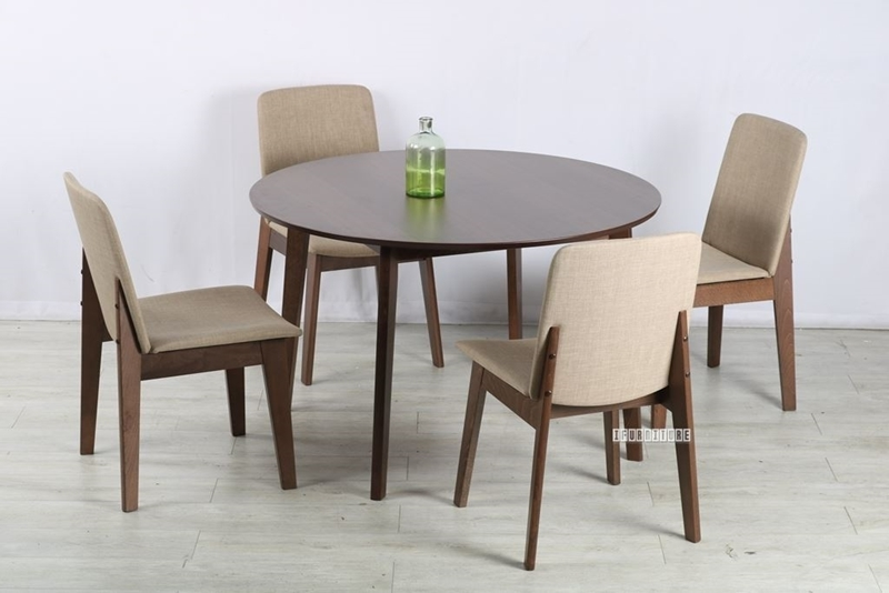 Picture of EDEN 120 ROUND 5PC DINING SET *BEIGE