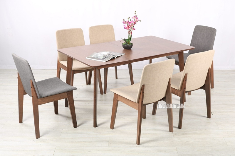 Picture of EDEN 150-190 EXTENSION 7PC DINING SET
