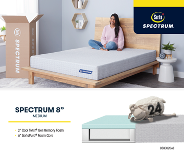 Picture of SERTA® SPECTRUM Memory form 8inch medium mattress
