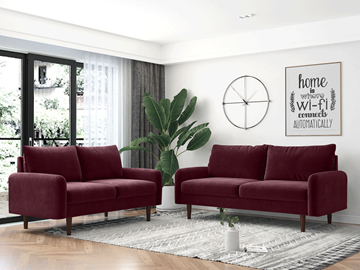 Picture of KAISON  2+3 SOFA RANGE *Burgundy