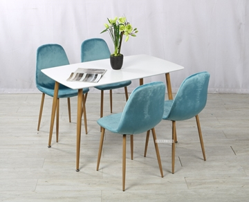 Picture of OSLO 5PC DINING SET *BLUE VELVET