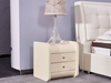 Picture of COCO 2DRW LEATHER BEDSIDE TABLE