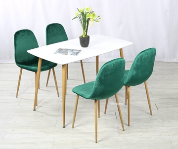 Picture of OSLO 5PC DINING SET *GREEN VELVET