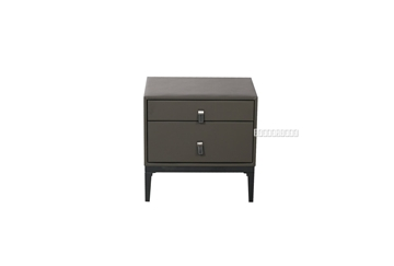 Picture of LOFT 2DRW LEATHER BEDSIDE TABLE