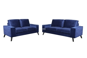 Picture of CALGARY 3+2 SOFA RANGE *BLUE VELVET