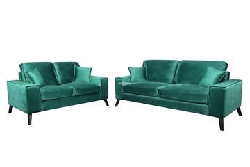 Picture of CALGARY 3+2 SOFA RANGE *GREEN VELVET