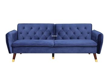 Picture of ARTHUR 3 SEATER SOFA BED *BLUE VELVET