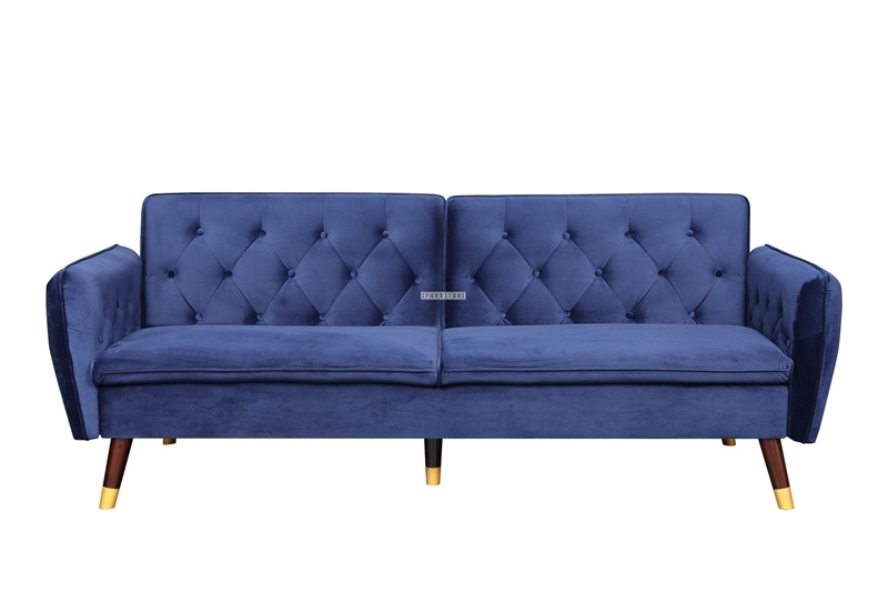 Picture of ARTHUR 3 SEATER SOFA BED *BLUE VELVET