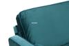Picture of ROSINA 3 SEATER SOFA BED * GREEN VELVET