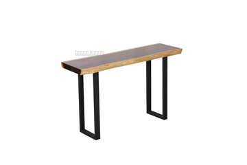 Picture of TASMAN SOLID NZ PINE 51''/59'' CONSOLE TABLE TABLE *LIVE EDGE