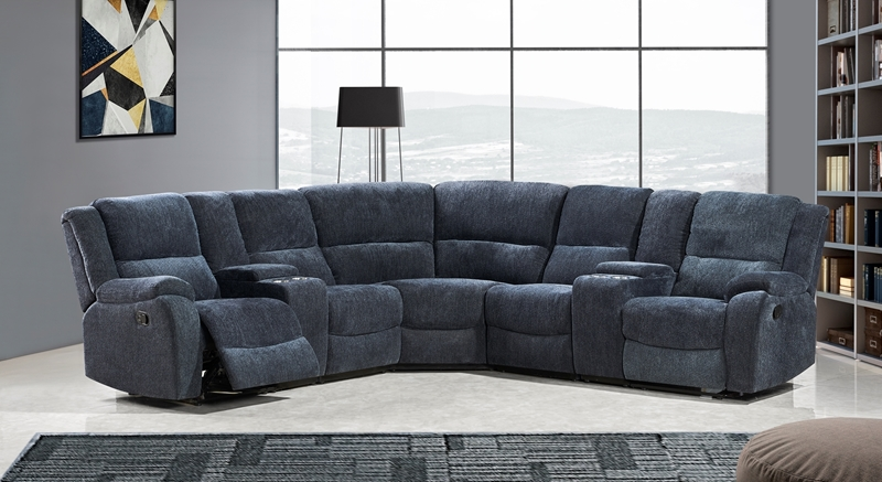Picture of ALTO SECTIONAL RECLINING SOFA * CUP HOLDERS AND STORAGE