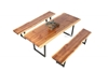 Picture of TASMAN SOLID NZ PINE 1.6/1.8/2.0/2.4 3PC DINING SET *LIVE EDGE