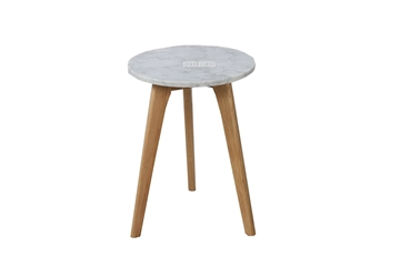 Picture of COPENHAGEN D32 ROUND MARBLE SIDE TABLE *SOLID OAK