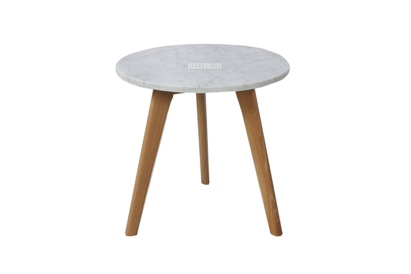 Picture of COPENHAGEN D40 ROUND MARBLE SIDE TABLE *SOLID OAK
