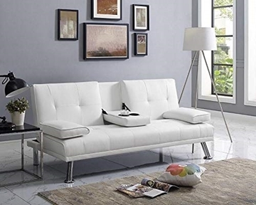 Picture of Clinton Sofa Bed with Console in Four colors--White