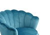 Picture of EVELYN  CURVED FLARED LOVESEAT* Blue VELVET