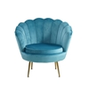 Picture of EVELYN  CURVED FLARED Armchair* Blue VELVET