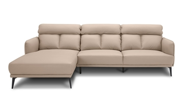Picture of Sikora Genuine Leather Sectional Sofa * Beige