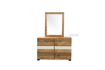 Picture of LEAMAN ACACIA DRESSING TABLE + MIRROR