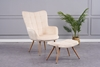 Picture of BELLO  LOUNGE CHAIR WITH OTTOMAN IN THREE COLORS*Beige
