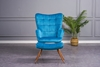 Picture of BELLO  LOUNGE CHAIR WITH OTTOMAN IN THREE COLORS*Blue