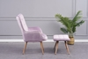 Picture of BELLO  LOUNGE CHAIR WITH OTTOMAN IN THREE COLORS*Violet