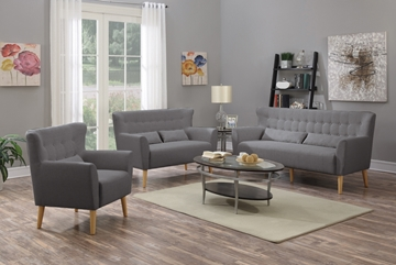 Picture of TIFFINY 1+2+3 SOFA RANGE * GREY