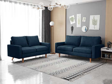 Picture of MAC FABRIC 3+2 SOFA RANGE IN DARK BLUE