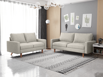 Picture of MAC FABRIC 3+2 SOFA RANGE IN BEIGE