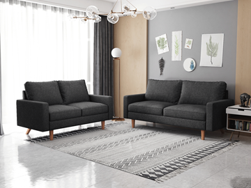 Picture of MAC FABRIC 3+2 SOFA RANGE IN DARK GRAY