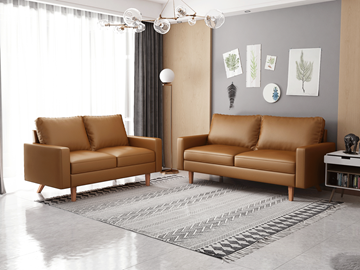 Picture of MAC LEATHER 3+2 SOFA RANGE IN BROWN