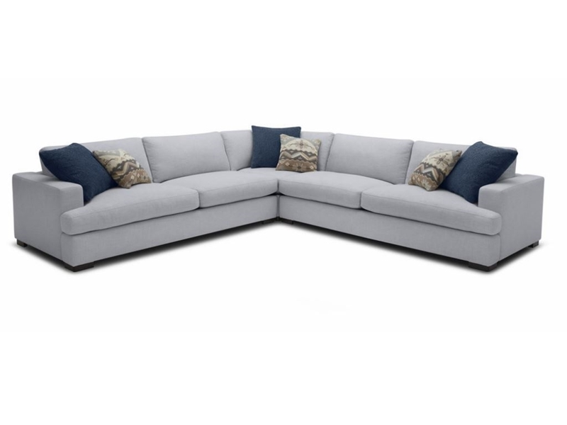 Picture of GOODWIN FEATHER FILLED SECTIONAL SOFA *DUST ,WATER & OIL RESISTANT