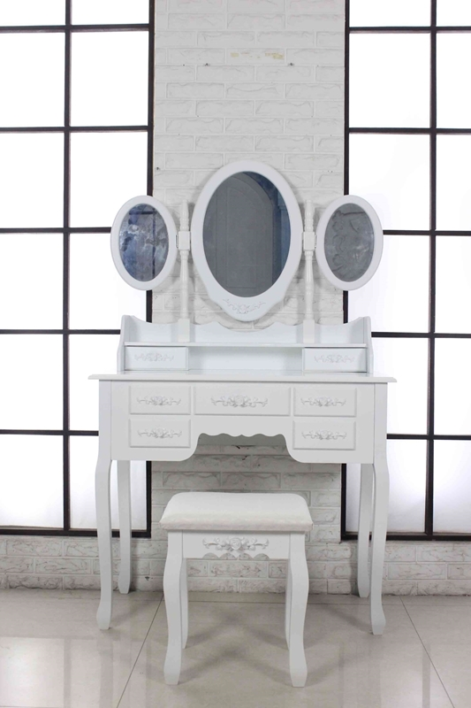 Picture of Otega DRESSING TABLE & STOOL * WHITE