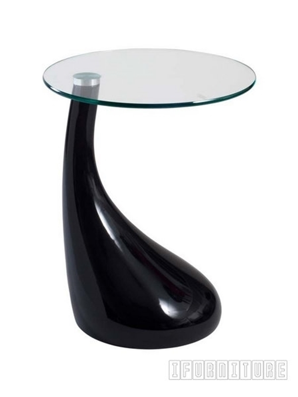 Picture of JUPITER Fiber Glass Side Table in Black  and White Color