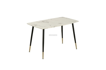 Picture of BIJOK 47/63 DINING TABLE *WHITE MARBLE FINISHING