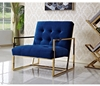 Picture of THEO LOUNGE CHAIR * BLUE VELET