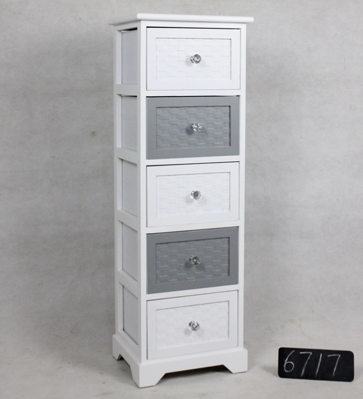 Picture of LEESA Wooden chest with 5 drawers