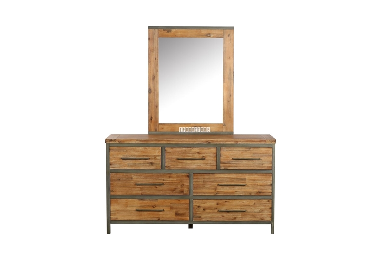 Picture of KANSAS DRESSING TABLE + MIRROR *ACACIA WOOD