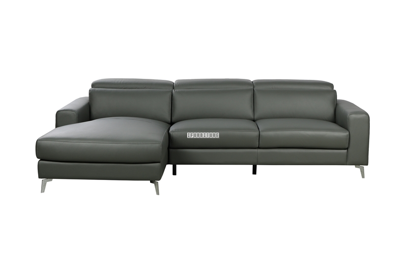 Picture of CHERADI SECTIONAL SOFA IN 100% Top LEATHER *GREY