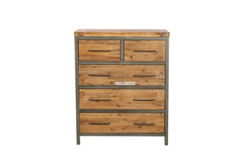 Picture of KANSAS 5DRW TALLBOY *ACACIA WOOD
