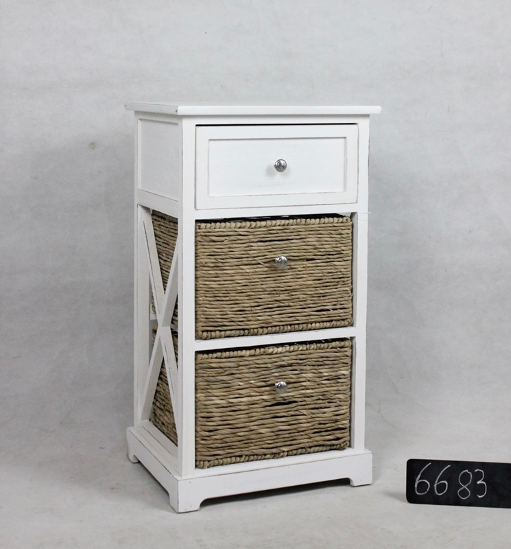Picture of 6683  WOODEN CABINET WITH 3 DRAWERS