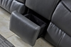Picture of Pasadena RECLINING SOFA RANGE IN GRAY & BLACK *AIR LEATHER