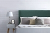 Picture of POOLE PLATFORM BED FRAME *GREEN VELVET