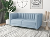 Picture of MISHTI VELVET 3 PCS SOFA RANGE IN LIGHT BLUE