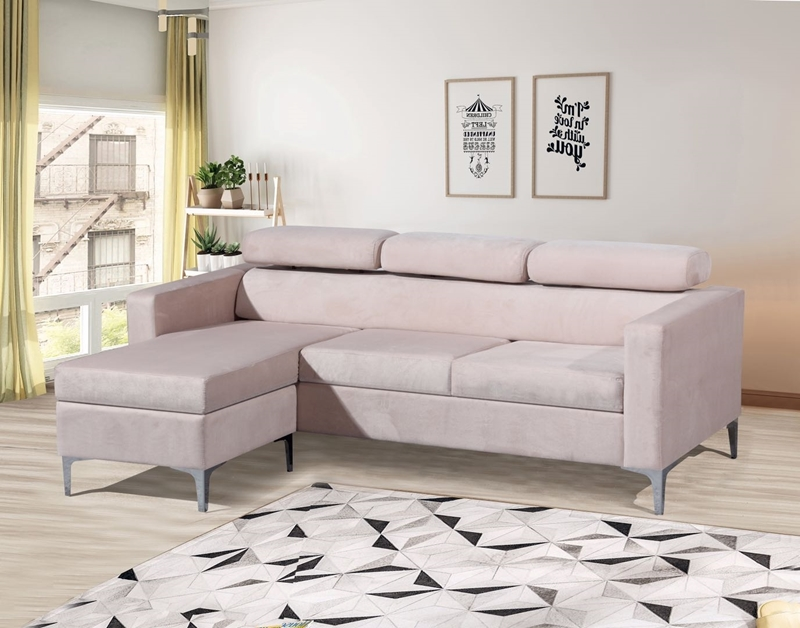 Picture of Amona  reversible Velvet sectional sofa - super firm seats
