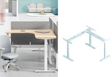 Picture of UP1 L SHAPE ADJUSTABLE DESK FRAME *WHITE OR BLACK