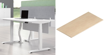 Picture of UP1 STRAIGHT DESKTOP *WHITE OR OAK, 150/160/180 LONG